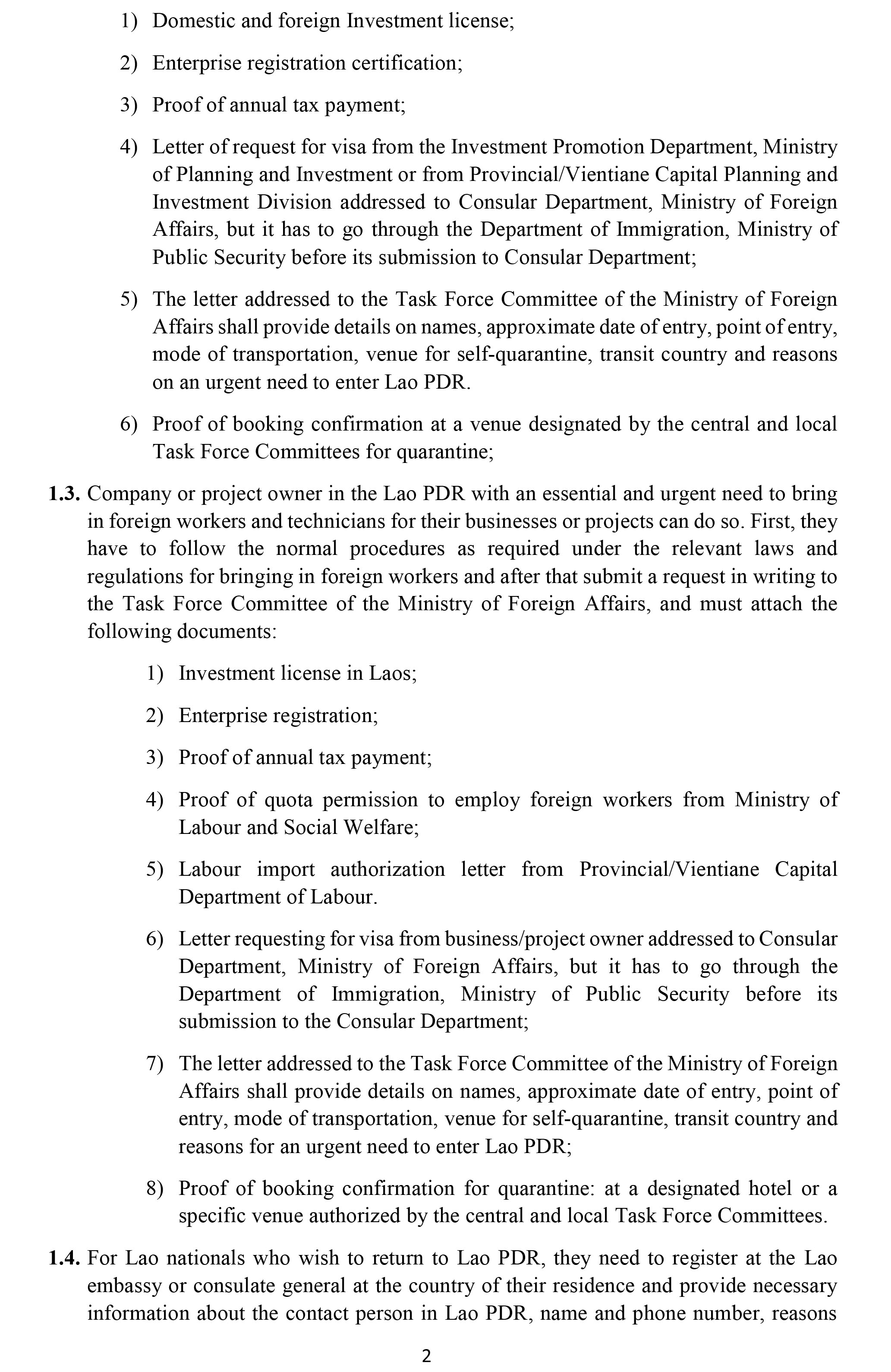 MOFA-Procedural Advisory on documentation and steps 1861-2