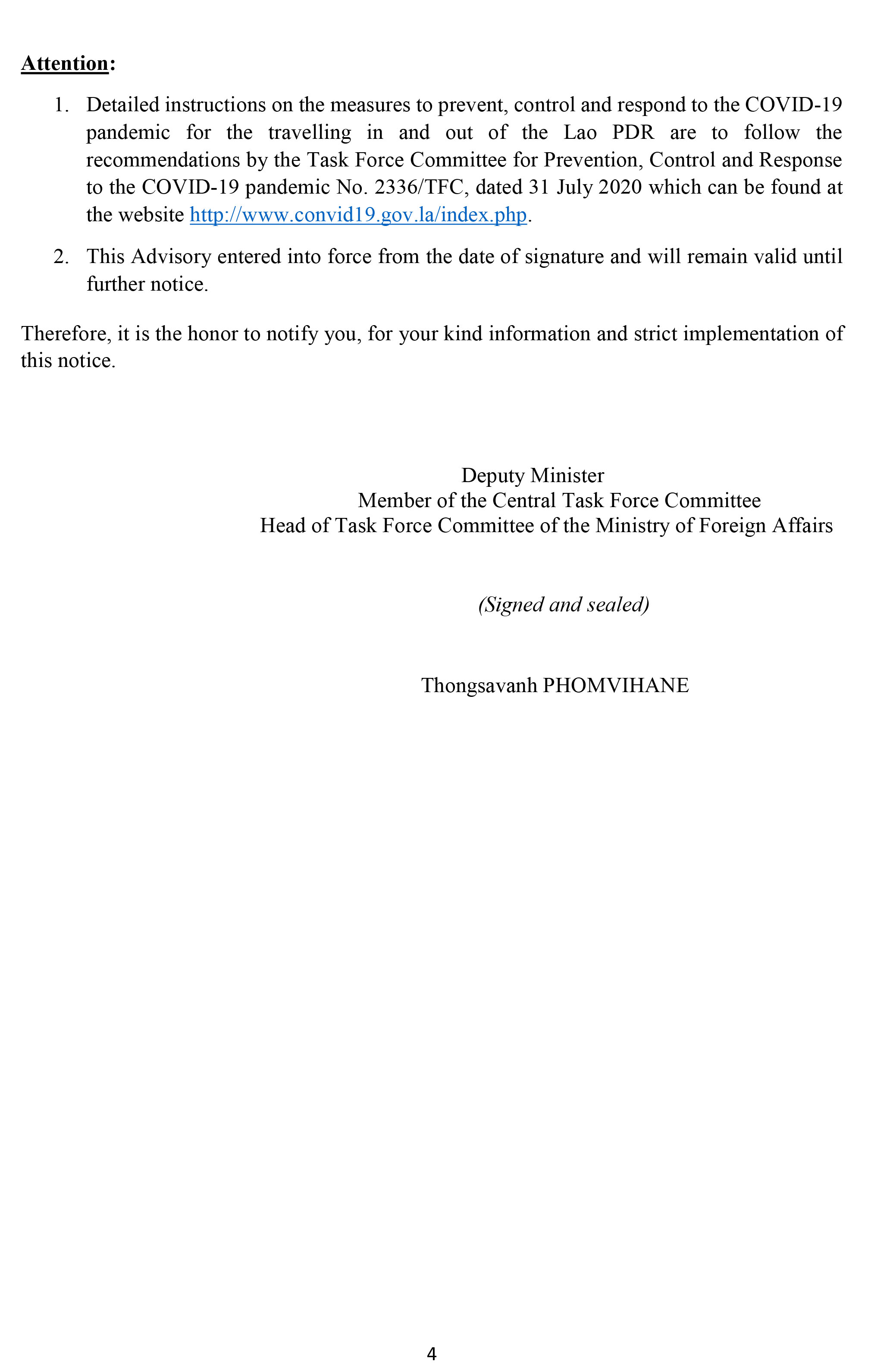 MOFA-Procedural Advisory on documentation and steps 1861-4